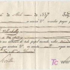 Cartas comerciales: LETRA DE CAMBIO. DE 1000 REALES DE VELLÓN. CÓRDOBA 1857.. Lote 17918417