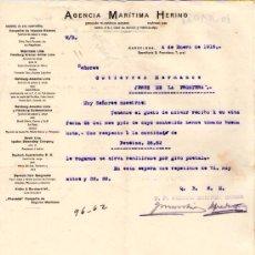 Cartas comerciales: BARCELONA. 1915. CARTA COMERCIAL DE AGENCIA MARITIMA HERING.. Lote 18168726