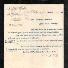 Cartas comerciales: BILBAO. 1910. CARTA COMERCIAL DE BODEGAS EN HARO. F. UGALDE, COSECHERO. RIOJA MEDOC.. Lote 18685271