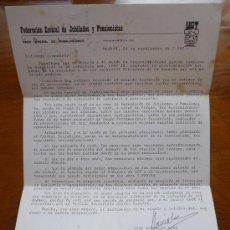 Cartas comerciales: CARTA UGT 1982 FEDERACION ESTATAL DE JUBILADOS Y PENSIONISTAS, UNION GENERAL DE TRABAJADORES. Lote 18496542