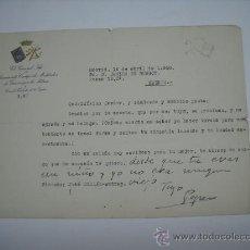 Cartas comerciales: CARTA MECANOGRAFIADA Y MANUSCRITA DE JOSÉ MILLÁN ASTRAY FUNDADOR DE LA LEGIÓN EMBLEMA IMPRESO ORO. Lote 27478197