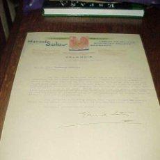 Cartas comerciales: SELLOS CAUCHO MANUEL SOTOS. CARTA COMERCIAL AÑO 1940.. Lote 19862953