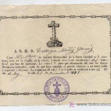 Cartas comerciales: CARTA DE ASISTENCIA A LA CAPILLA DE LA CARCEL A DONDE VAN A SE CONDUCIDOS DOS HOMBRES QUE HAN -. Lote 20450735