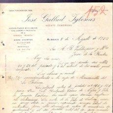 Cartas comerciales: CARTA COMERCIAL. JOSE GALLUD IGLESIAS. AGENTE COMERCIAL. VALDESPINO, JEREZ. ALMERIA, AGOSTO 1926.. Lote 20709757