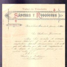 Cartas comerciales: CARTA COMERCIAL. SANCHEZ Y RODRIGUEZ. TALLER TONELERIA. GUTIERREZ HNOS. JEREZ. 1900, JUNIO.. Lote 20968331
