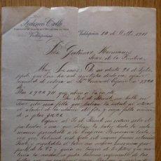 Cartas comerciales: CARTA COMERCIAL. VALDEPEÑAS 1911. FEDERICO CALLE. ALCOHOLES Y VINOS. A GUTIERREZ HERMANOS. . Lote 21282987