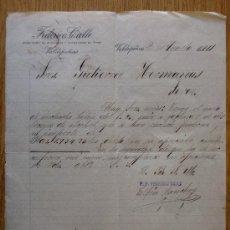 Cartas comerciales: CARTA COMERCIAL. VALDEPEÑAS 1911. FEDERICO CALLE. ALCOHOLES Y VINOS. A GUTIERREZ HERMANOS. . Lote 21283002