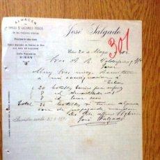 Cartas comerciales: CARTA COMERCIAL. EIBAR 1922. JOSE SALGADO. ALMACEN DE VINOS Y LICORES. A VALDESPINO Y HNO.. Lote 21389425