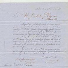 Cartas comerciales: CARTA COMERCIAL. DE PARÍS (AÑO 1852 ) A SEVILLA. AL DORSO LLEVA TAMPÓN DE 5 CENTS. TIMBRE - SEINE.. Lote 22085739