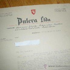 Cartas comerciales: PULCRA LTDA. JABONES Y PRODUCTOS QUIMICOS. BARCELONA.. Lote 22260876