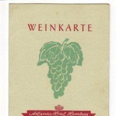 Cartas comerciales: CARTA DE VINOS -WEINKARTE- ATLANTIC HOTEL HAMBURG- FESTSÄLE- EN ALEMAN. Lote 26758951