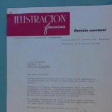 Cartas comerciales: CARTA COMERCIAL. BARCELONA.1959. ILUSTRACION FEMENINA. REVISTA MENSUAL. SR. A. R. VALDESPINO.. Lote 24194950