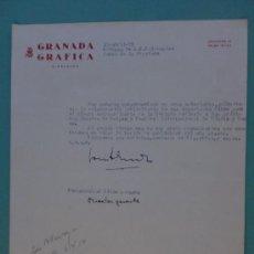 Cartas comerciales: CARTA COMERCIAL. GRANADA. 1959. GRANADA GRAFICA. BODEGAS DE A. R. VALDESPINO.. Lote 24195428