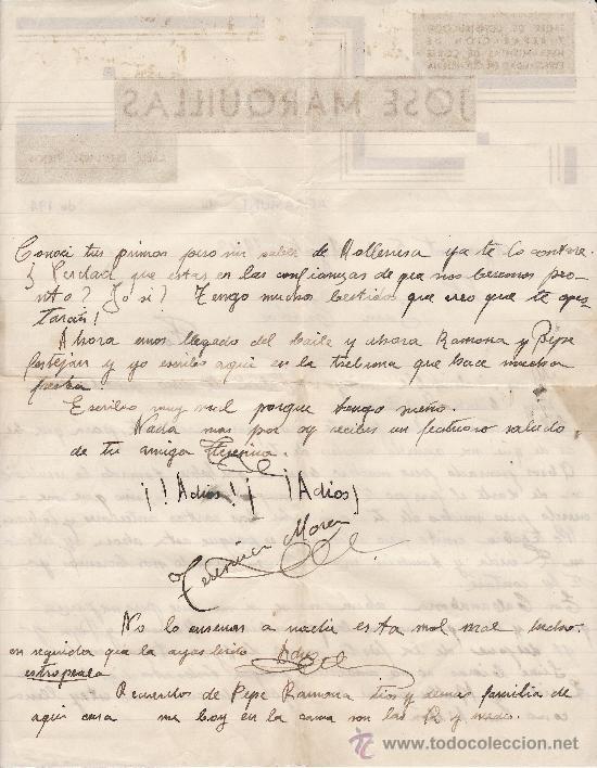 Cartas comerciales: JOSE MARQUILLAS 1940 AGRAMUNT - Foto 2 - 24457985