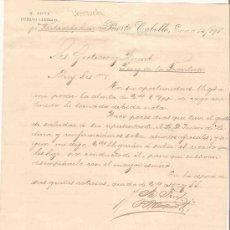 Cartas comerciales: VENEZUELA. PUERTO CABELLO. CARTA COMERCIAL. GUTIERREZ HNOS. JEREZ. M. FREY. ENERO 1891.. Lote 24623318
