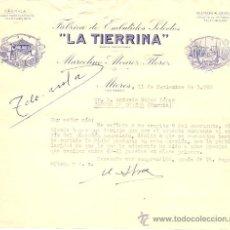 Cartas comerciales: LA TIERRINA FABRICA DE EMBUTIDOS SELECTOS - MIERES (ASTURIAS) - AÑO 1960. Lote 24681463