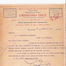 Cartas comerciais: MEXICO. GUANAJUATO. CARTA. AMBROSIO DIEZ. ALMACEN ABARROTES. CERVECERIA MOCTEZUMA. VINOS. 1913.. Lote 24965021