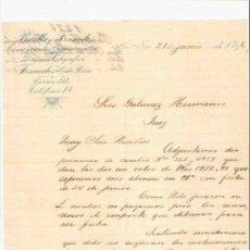 Cartas comerciales: COSTA RICA. SAN JOSE. CARTA. BATALLA Y FERNANDEZ. COMERCIANTES Y COMISIONISTAS. 1896.. Lote 25256361