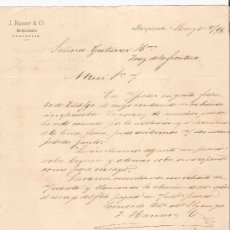 Cartas comerciales: VENEZUELA. BARQUISIMETO. CARTA. J. HANSER & CA. 1894.. Lote 25257778