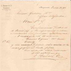 Cartas comerciales: VENEZUELA. BARQUISIMETO. CARTA. J. HANSER & CA. 1894.. Lote 25257814