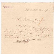 Cartas comerciales: VENEZUELA. PUERTO CABELLO. CARTA. S. MARTI ALEGRETT & CO. 1894.. Lote 25258267