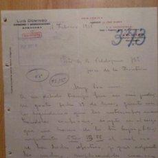 Cartas comerciales: CARTA COMERCIAL. ZARAGOZA. FEBRERO 1916. LUIS DOMINGO. COMISIONES Y REPRESENTACIONES.. Lote 26153039
