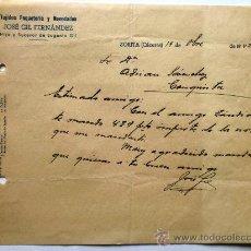 Cartas comerciales: CARTA COMERCIAL. ZORITA. CACERES. OCTUBRE 1942. JOSE GIL FERNANDEZ. TEJIDOS, PAQUETERIA Y NOVEDADES.. Lote 151429224
