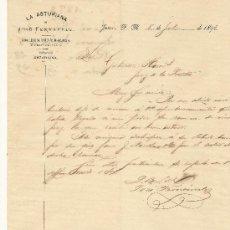 Cartas comerciales: 8 DE JULIO DE 1893. CARTA COMERCIAL LA ASTURIANA. Lote 26706066