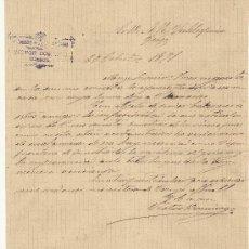 Cartas comerciales: 2O DE OCTUBRE DE 1891.CARTA COMERCIAL VICTOR DOMINGO. CUENCA. Lote 26728021