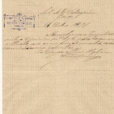 Cartas comerciales: 21 DE NOVIEMBRE DE 1891.CARTA COMERCIAL VICTOR DOMINGO. CUENCA. Lote 26728043