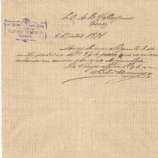 Cartas comerciales: 2 DE DICIEMBRE DE 1891.CARTA COMERCIAL VICTOR DOMINGO. CUENCA. Lote 26728069