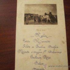 Cartas comerciales: CARTA DE MENU FRANCESA-CARTE DE MENU CAFÉ DE PARIS ARMENONVILLE. Lote 26912350