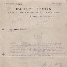 Cartas comerciales: CARTA CON MEMBRETE DE AIBAR A SEVILLA DE AGOSTO DE 1938.. Lote 27239116