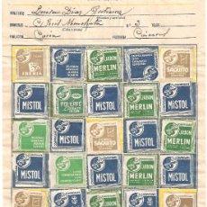 Cartas comerciales: CARTA COMERCIAL COMPRYGANE.COMPLETA CON 25 SELLOS.MISTOL,POLKAFÉ,HOJAS IBERIA,JABÓN MERLÍN. Lote 27402410