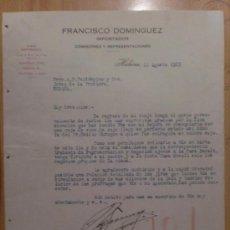 Cartas comerciales: CARTA COMERCIAL. HABANA. CUBA. AGOSTO 1925. FRANCISCO DOMINGUEZ. IMPORTADOR.. Lote 107529751