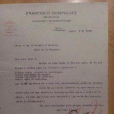 Cartas comerciales: CARTA COMERCIAL. HABANA. CUBA. AGOSTO 1925. FRANCISCO DOMINGUEZ. IMPORTADOR.. Lote 107529811