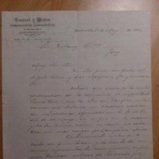 Cartas comerciales: CARTA COMERCIAL. GUATEMALA. GUATEMALA. MAYO 1893. TORRENT Y MATAS. COMERCIANTES COMISIONISTAS.. Lote 27909964