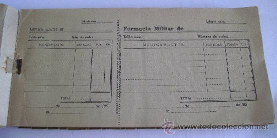 Cartas comerciales: libreta para el suministro de medicamentos,servicio farmaceutico del ejercito, farmacia militar 1958 - Foto 2 - 28400499