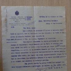 Cartas comerciales: CARTA COMERCIAL. ESPAÑA. SEVILLA. OCTUBRE 1915. RAFAEL MOLINA. ALCOHOLES Y CEREALES.. Lote 28744167