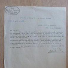 Cartas comerciales: CARTA COMERCIAL. ESTACION DE JABUGO, HUELVA. FEBRERO 1932. JOSE SANCHEZ ROMERO.. Lote 28746197