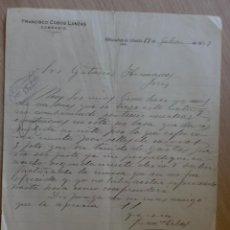 Cartas comerciales: CARTA COMERCIAL. ALBANCHEZ DE UBEDA, JAEN. JULIO 1927. FRANCISCO COBOS LANZAS. COMERCIO.. Lote 28746703