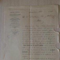 Cartas comerciales: CIRCULAR. MADRID. MARZO 1898. OFICINA TECNICA PARA LA OBTENCION DE PATENTES DE INVENCION.. Lote 28788404