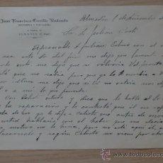 Cartas comerciales: CARTA COMERCIAL. C. REAL. ALMADEN. DICBRE 1952. JUAN FCO. CERRILLO REDONDO. DROGUERIA Y PERFUMERIA.. Lote 28789772
