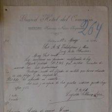 Cartas comerciales: CARTA COMERCIAL. SALAMANCA. MARZO 1916. GRAND HOTEL DEL COMERCIO. FRANCISCO NUÑEZ IZQUIERDO.. Lote 28801318