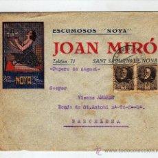 Cartas comerciales: CARTA GRAN CHAMPAN JOAN MIRÒ CON SELLOS REPUBLICA SANT SADURNI DE ANOIA. Lote 28821038
