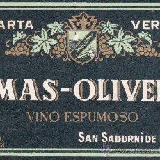 Cartas comerciales: CARTA VERDE MAS-OLIVER SAN SADURNI DE NOYA . BARCELONA. Lote 28864706