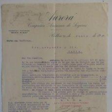 Cartas comerciales: CARTA COMERCIAL. BILBAO. JUNIO 1917. AURORA, COMPAÑIA ANONIMA DE SEGUROS. RAMO MARITIMOS.. Lote 29098328