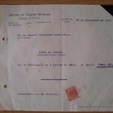 Cartas comerciales: SUCESOR DE RICARDO MONTOYA ALMACEN DE TEJIDOS - LORCA (MURCIA) AÑO 1954 - TAMAÑO 21,5 X 18 CM.. Lote 29340944
