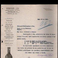 Cartas comerciales: CARTA COMERCIAL. PACHUCA, MEXICO. MAQUIVAR Y CIA. ALMACEN HIERRO, ABARROTES. VINOS OPORTO. 1926.. Lote 29427649