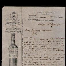Cartas comerciales: CARTA COMERCIAL. RANGOON, BIRMANIA. SARKIES BROTHERS. RAFFLES HOTEL. WHISKY. 1900.. Lote 29427710